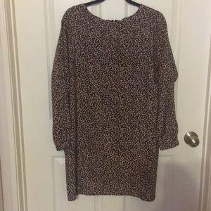 Loft leopard shift dress
